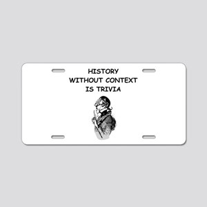 history Aluminum License Plate