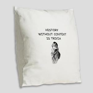 history Burlap Throw Pillow