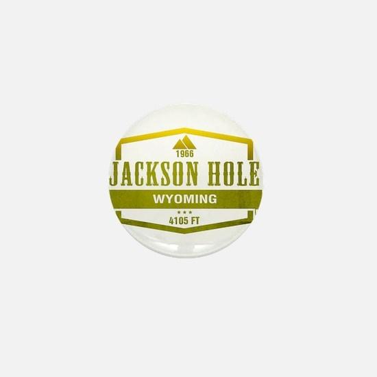 Jackson Hole Ski Resort Wyoming Mini Button