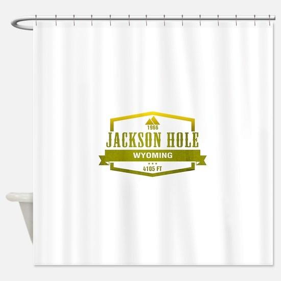 Jackson Hole Ski Resort Wyoming Shower Curtain