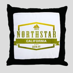Northstar Ski Resort California Throw Pillow