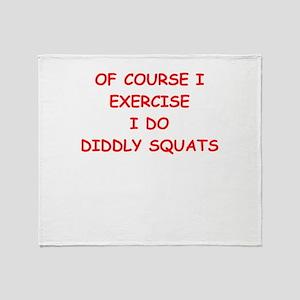 exercise Throw Blanket