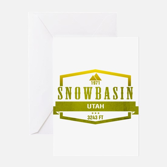 Snowbasin Ski Resort Utah Greeting Cards
