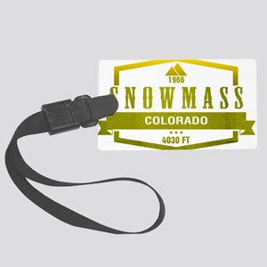 Snowmass Ski Resort Colorado Luggage Tag