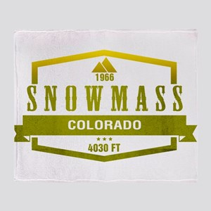 Snowmass Ski Resort Colorado Throw Blanket