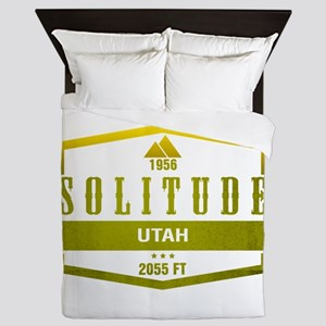Solitude Ski Resort Utah Queen Duvet