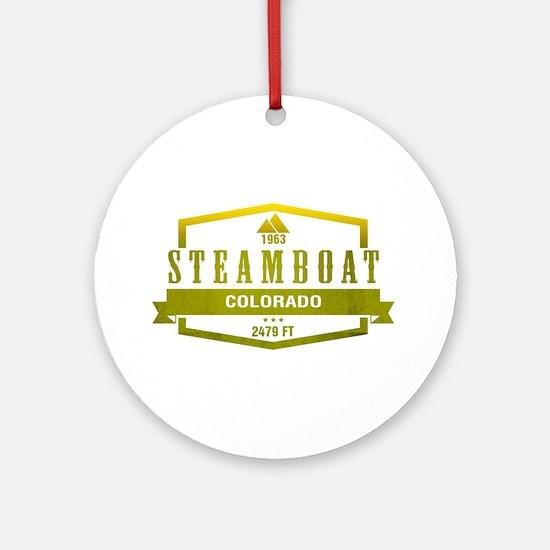 Steamboat Ski Resort Colorado Ornament (Round)