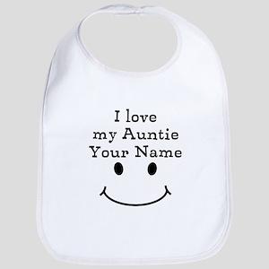 I Love My Auntie (Custom) Bib