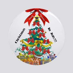 Christmas in July Ornament (Round)