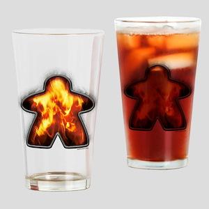 Iron Fire Meeple Drinking Glass