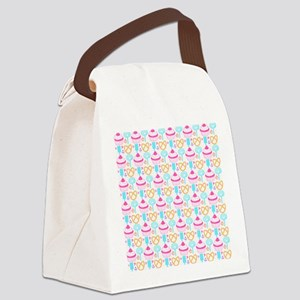 Colorful Cupcake Sweets Canvas Lunch Bag