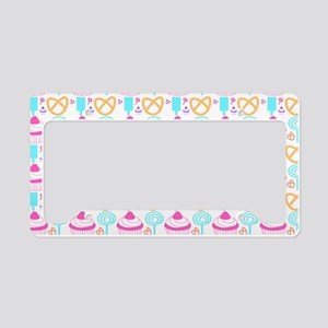 Colorful Cupcake Sweets License Plate Holder