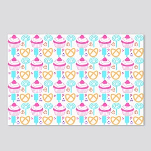 Colorful Cupcake Sweets Postcards (Package of 8)