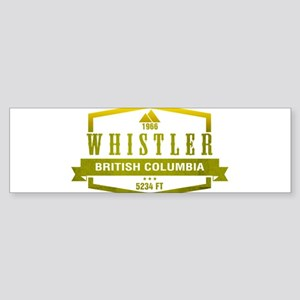 Whistler Ski Resort British Columbia Bumper Sticke