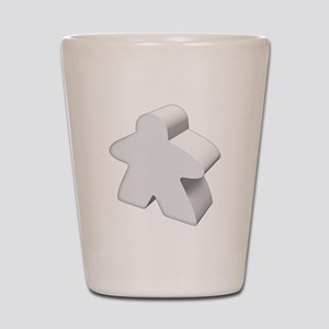 White Meeple Shot Glass