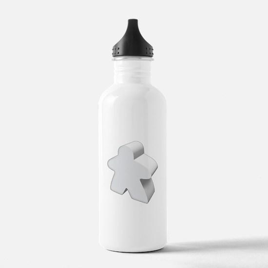White Meeple Water Bottle