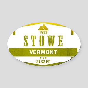 Stowe Ski Resort Vermont Oval Car Magnet