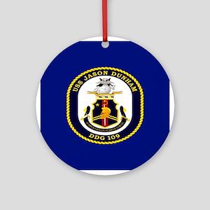 USS Dunham DDG 109 Ornament (Round)