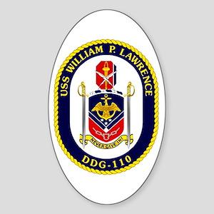 DDG-110 USS Lawrence Sticker (Oval)