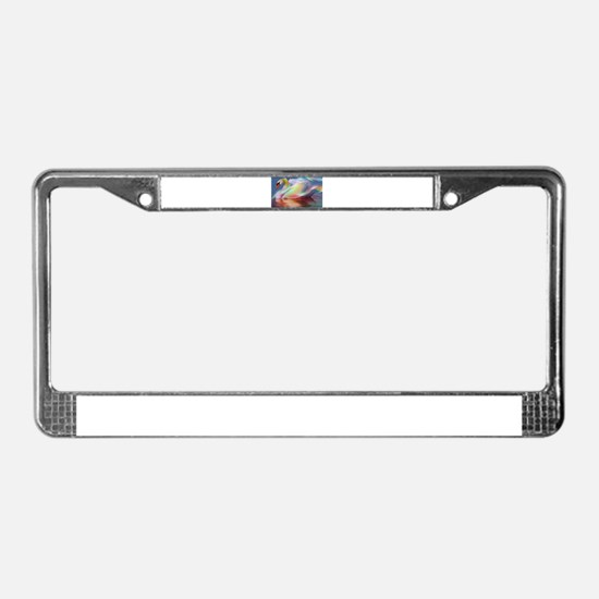 abstract swan License Plate Frame