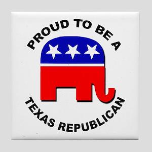 Proud Texas Republican Tile Coaster