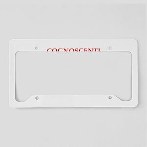cognoscenti License Plate Holder