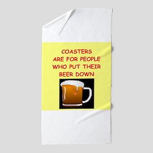 beer drinker Beach Towel
