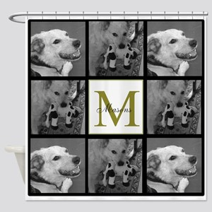 Photo Block, Monogram And Name Shower Curtain