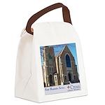 Building Slogan Canvas Lunch Bag
