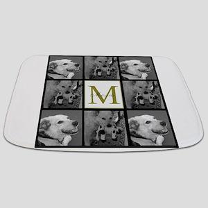 Beautiful Photo Block and Monogram Bathmat