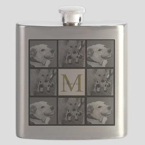 Beautiful Photo Block and Monogram Flask