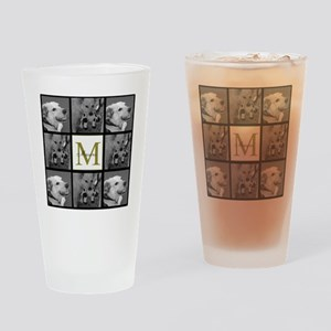 Beautiful Photo Block and Monogram Drinking Glass