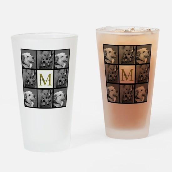 Beautiful Photo Block and Monogram Drinking Glass