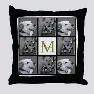 Beautiful Photo Block and Monogram Throw Pillow
