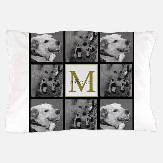 Beautiful Photo Block and Monogram Pillow Case