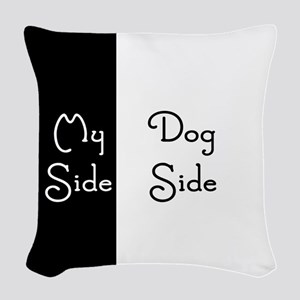 Dog Side My Side Woven Throw Pillow