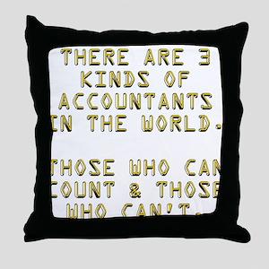 3 Accountants Throw Pillow