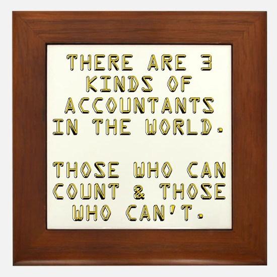 3 Accountants Framed Tile