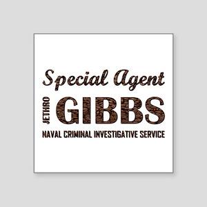"SPEC AGENT GIBBS Square Sticker 3"" x 3"""