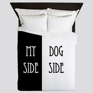 Dog Side My Side Queen Duvet