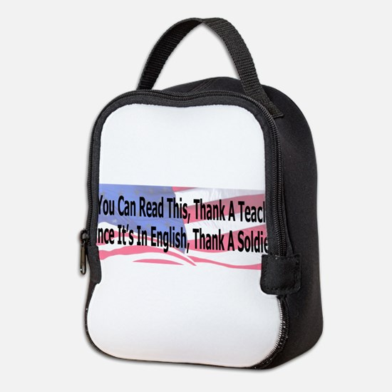 Unique Support our troops Neoprene Lunch Bag
