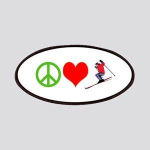 PEACE, LOVE, SKI Patches