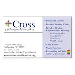 Cross Card Sticker (rectangle)