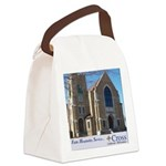 Building Slogan Canvas Lunch Bag