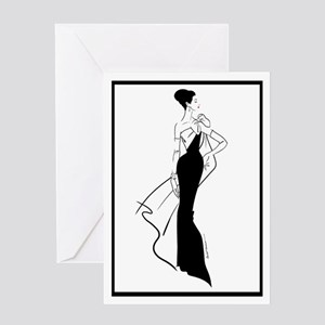 Silhouette Fashion Art #5 (pack 20) Greeting Cards
