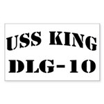 USS KING Sticker (Rectangle)