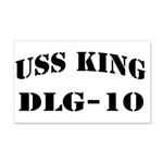USS KING 20x12 Wall Decal