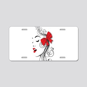 Red Lips Aluminum License Plate