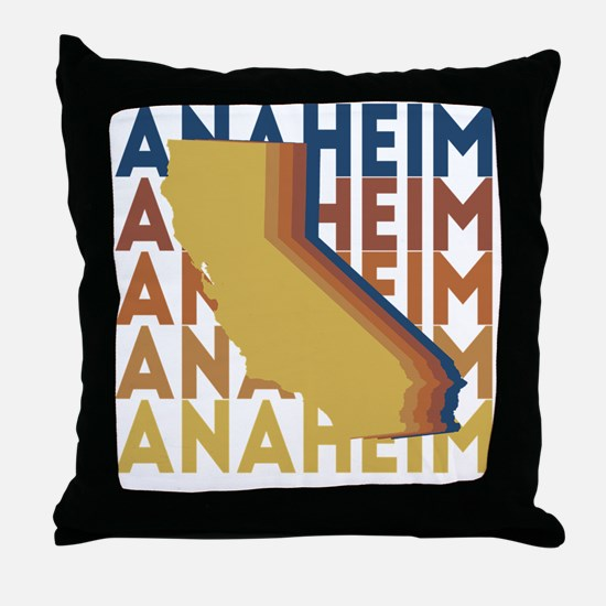 Funny Anaheim california Throw Pillow