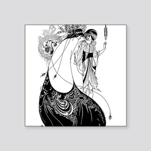 Art Nouveau Beardsley Peacock Skirt Sticker